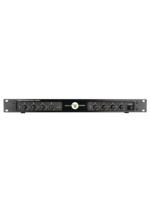 8 channel bridgeable class D power amplifier, 8 x 250 W @ 4Ω
